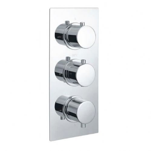 Echo Round Chrome Triple Thermostatic Concealed Shower & Diverter (Tmv2)